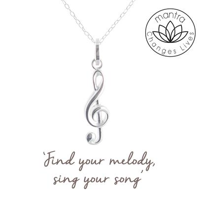 Buy Mantra Treble Clef Charity Necklace