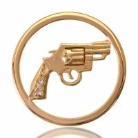 Buy Nikki Lissoni Yellow Gold Bang Bang Coin 33mm