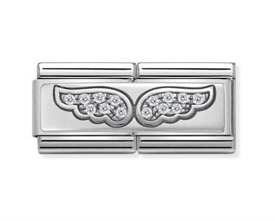 Buy Nomination CZ Wings Double Link