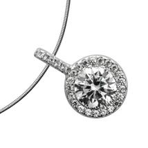 Buy Diamonfire Round Cluster Necklace