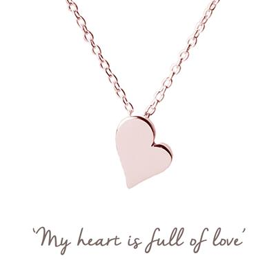 Buy Heart Mantra Necklace in Rose Gold