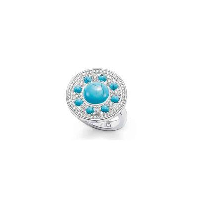 Buy Thomas Sabo Turquoise Disc Ring Size 52