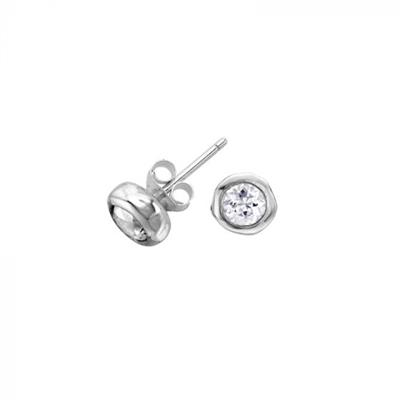 Buy Dower and Hall Sterling Silver White Topaz Dewdrop Studs