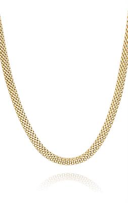 Buy Pure Attraction Oval Mesh Necklace in Yellow Gold