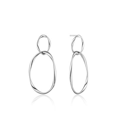 Buy Ania Haie Sterling Silver Swirl Nexus Earrings