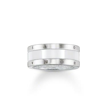 Buy Thomas Sabo White Ceramic Ring, 54