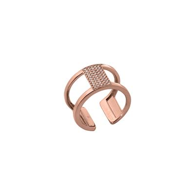 Buy Les Georgettes Rose Gold CZ Barrette Ring 56