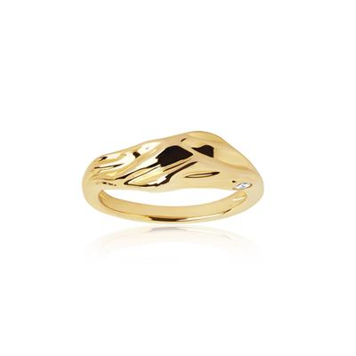 Buy Sif Jakobs Gold Vulcanello Chunky Ring (56)
