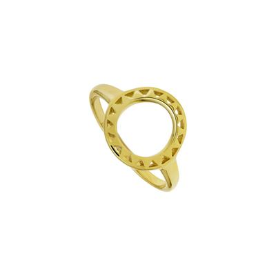 Buy Daisy Halo Gold Sun Ring (size N)
