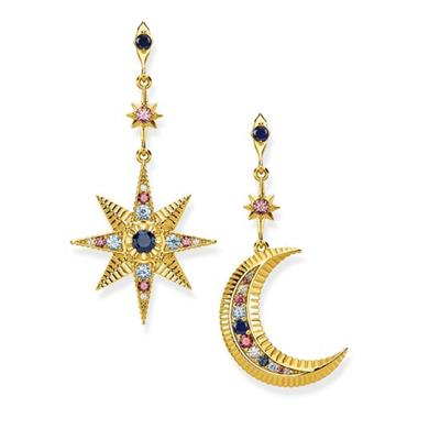 Buy Thomas Sabo Gold Moon and Star Drop Earrings