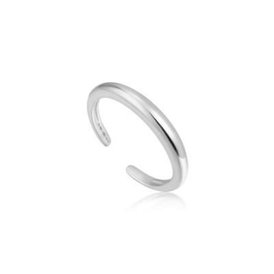 Buy Ania Haie Luxe Minimalism Adjustable Silver Band Ring