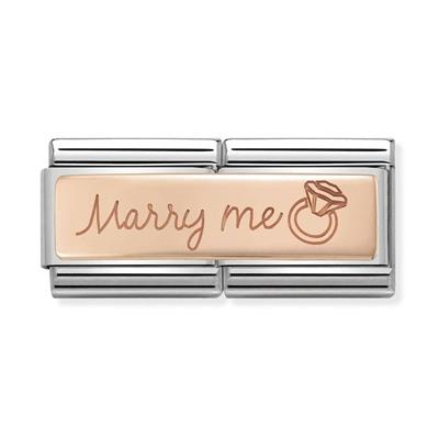 Buy Nomination Rose Gold Marry Me Double Link