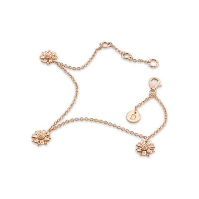 Buy Rose Gold Three Daisy Vintage Bracelet