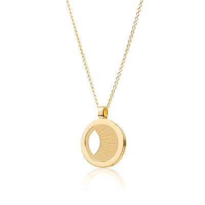 Buy Daisy Yellow Gold Sunbeam Halo Necklace