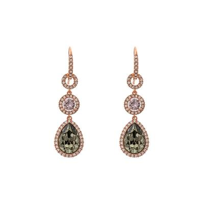 Buy Lily and Rose Amy Black Diamond Earrings