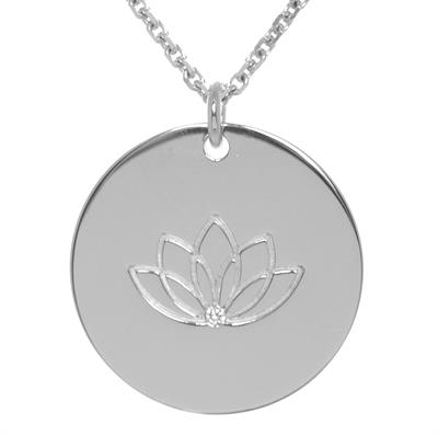 Buy MyMantra CZ Lotus Personalised Necklace 80cm