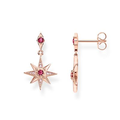 Buy Thomas Sabo Rose Gold Red Star Drops