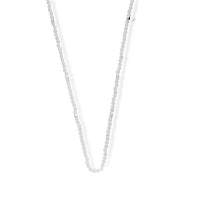 Buy ChloBo Silver & White Agate Necklace Chain