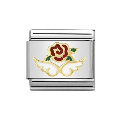 Buy Nomination Gold and Enamel Angel of Nature Charm