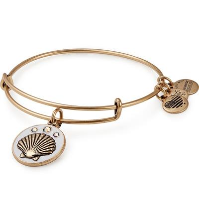 Buy Alex and Ani Sea Shell Colour Infusion Bangle in Rafaelian Gold