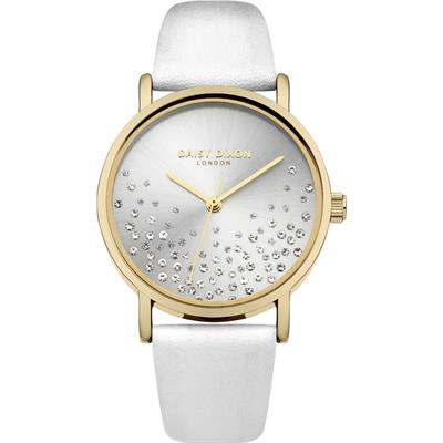 Buy Daisy Dixon Astra White Leather Sunray Watch
