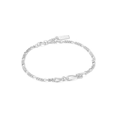 Buy Ania Haie Chain Reaction Silver Figaro Chain Bracelet