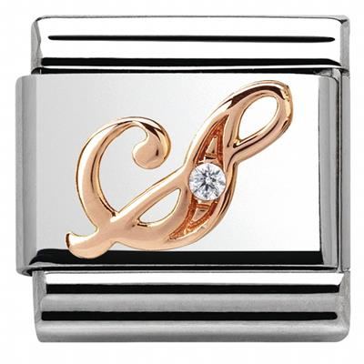 Buy Nomination Rose Gold CZ Letter S
