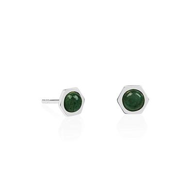 Buy Daisy Healing Stones Adventurine Hexagon Studs