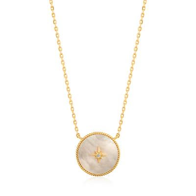 Buy Ania Haie Hidden Gem Gold Mother of Pearl Emblem Necklace