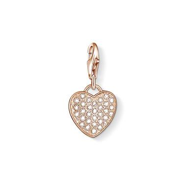 Buy Thomas Sabo Rose Gold CZ Heart Charm