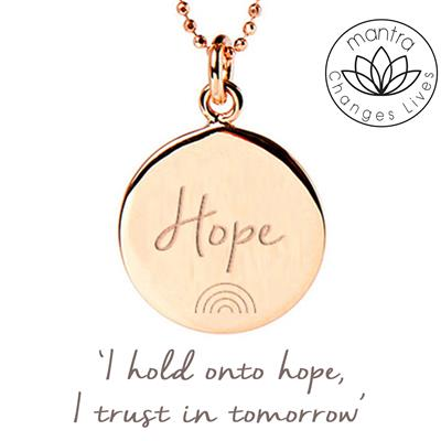 Buy Mantra Hope NHS Charities Together, Charity Necklace in Rose Gold
