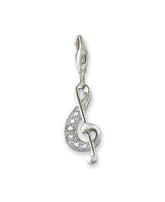 Buy Thomas Sabo Treble Clef Music Charm with Cubic Zirconia