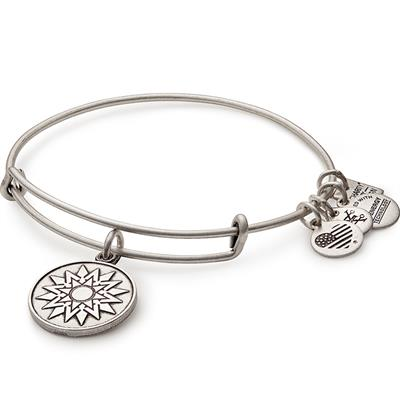 Buy Alex and Ani New Beginnings Bangle in Rafaelian Silver