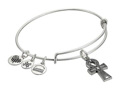 Buy Alex and Ani Ankh Bangle in Rafaelian Silver