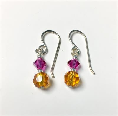 Buy Brave Orange Crystal Drop Earrings