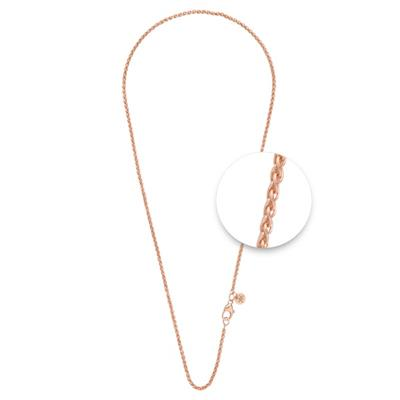 Buy Nikki Lissoni Rose Gold Wheat Chain 80cm
