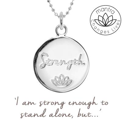 Buy Mantra Strength MIND, Charity Necklace in Sterling Silver
