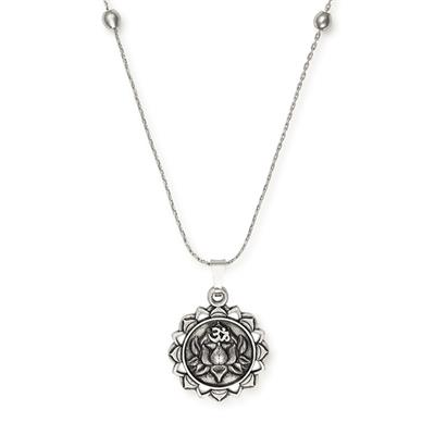Buy Alex and Ani Lotus Peace Petals Expandable Necklace in Rafaelian Silver