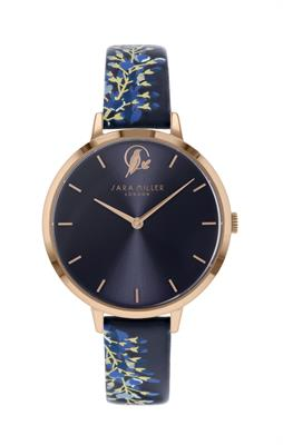 Buy Sara Miller Wisteria Watch, Rose Gold and Navy