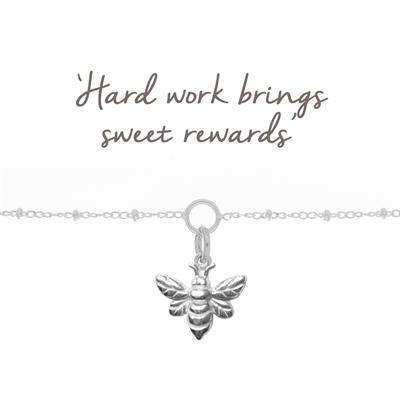 Buy Mantra Bee Bracelet in Silver