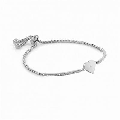 Buy Nomination Milleluci Stainless Steel Heart Toggle Pav Half Bangle