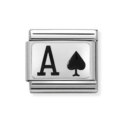 Buy Nomination Silver and Enamel Ace of Spades