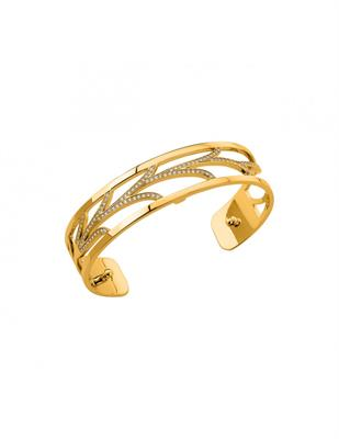 Buy Les Georgettes Yellow Gold and CZ Courbe Slim Cuff