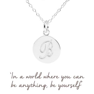 Buy B Mantra Initial Necklace