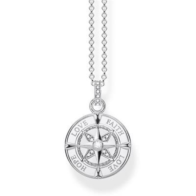 Buy Thomas Sabo Sterling Silver Love Compass Necklace