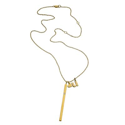 Buy Jennifer Zeuner Anja 'I Heart U' Necklace in Gold