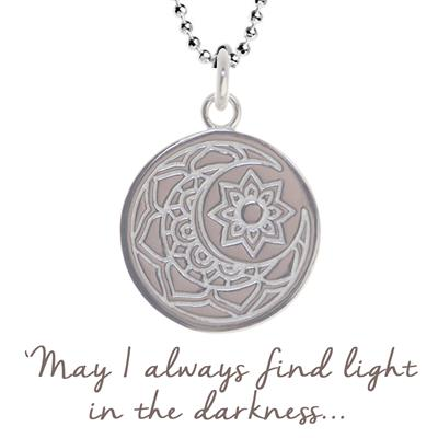 Buy Mantra Sun and Moon Necklace in Silver