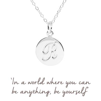 Buy R Mantra Initial Necklace