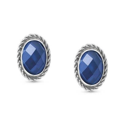 Buy Nomination Silver Oval Blue CZ Studs
