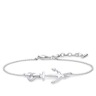 Buy Thomas Sabo Sterling Silver CZ Anchor Bracelet